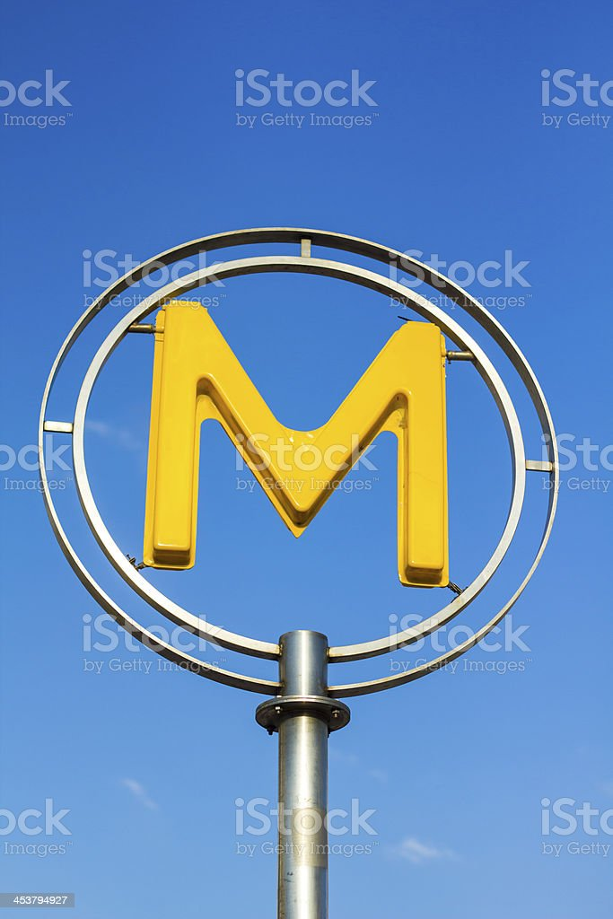 Metro sign, Paris royalty-free stock photo