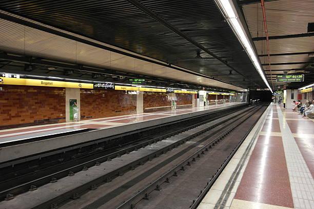 Metro Station Bogatell in Barcelona stock photo