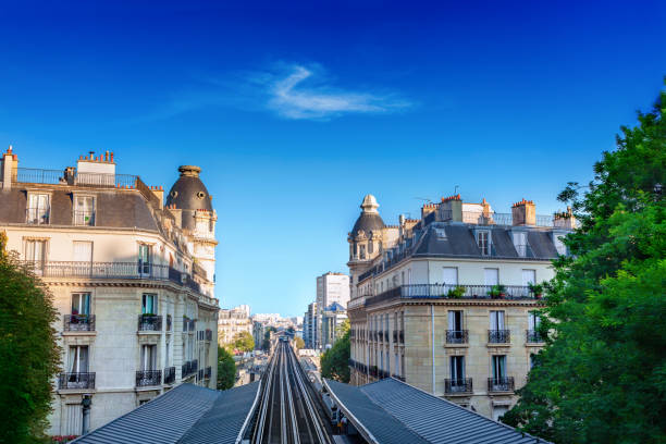 Metro station in Paris, France stock photo