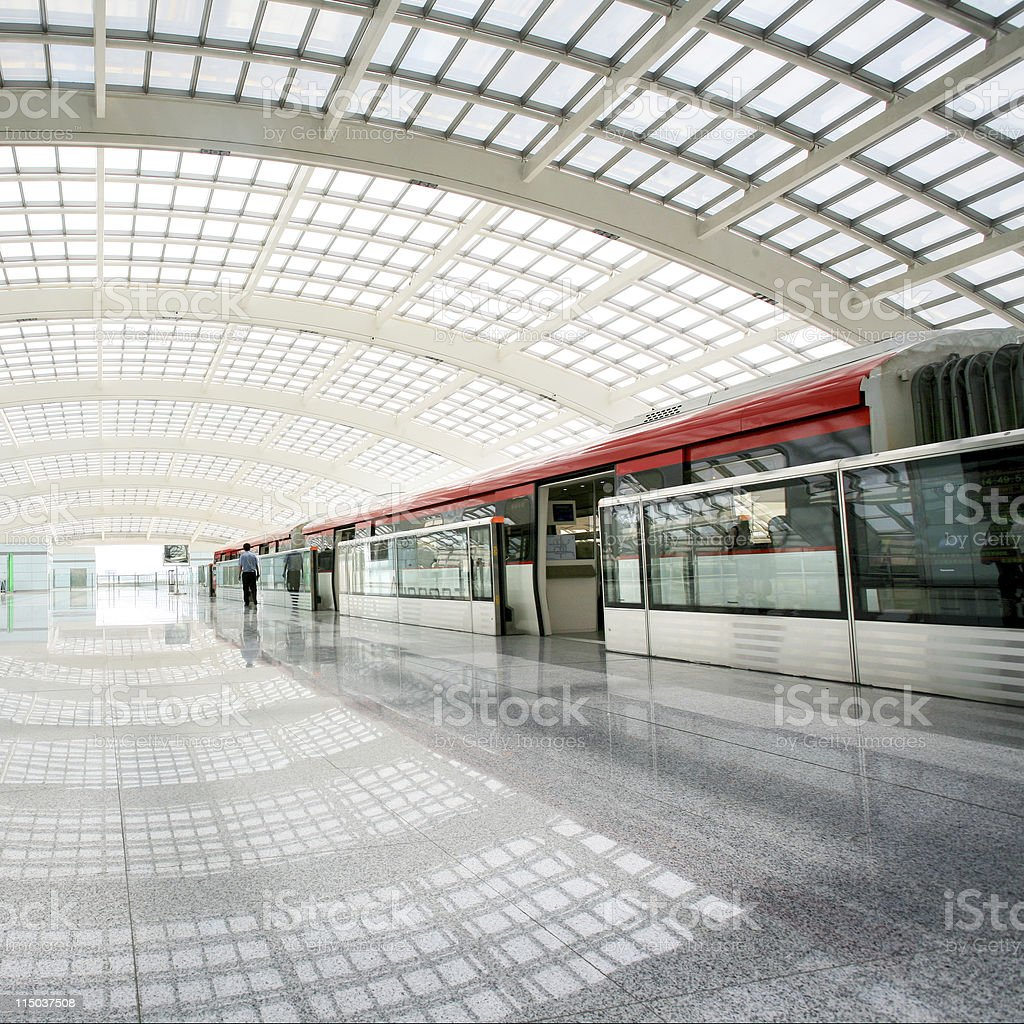 metro station stock photo