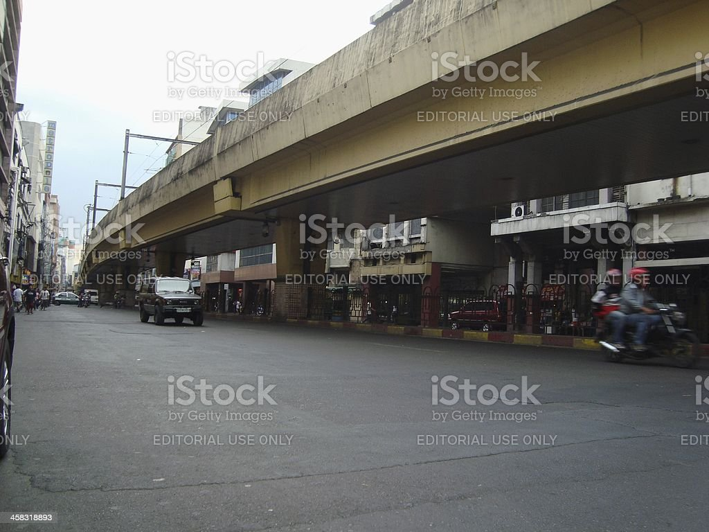 Metro track, Santa Cruz district -  Philippines stock photo