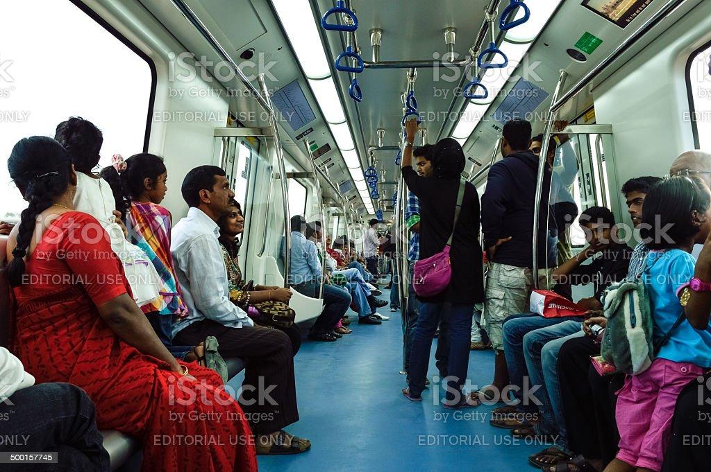 metro train in Bangalore stock photo