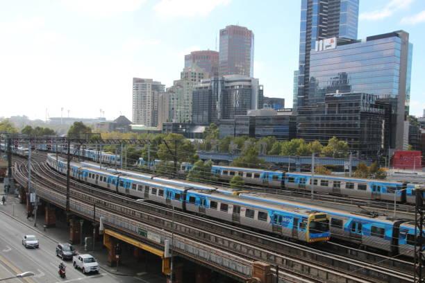 U-Bahn-Züge Melbourne – Foto