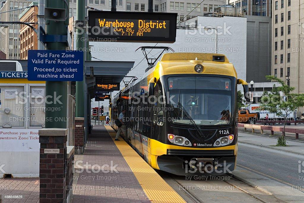 Metro Transit in Minneapolis stock photo