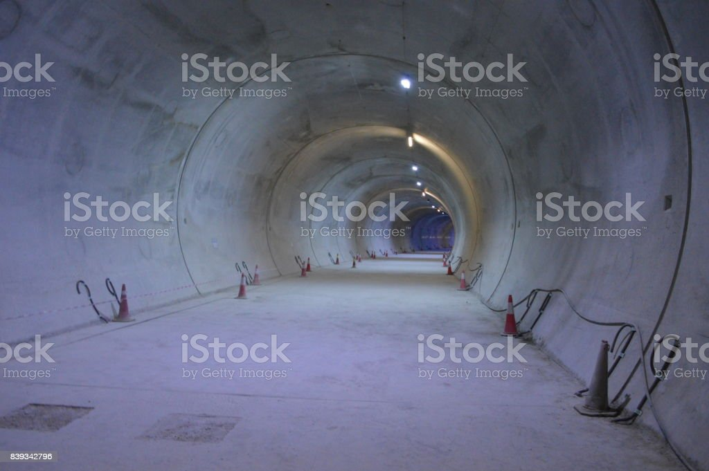 Metro tunnel stock photo