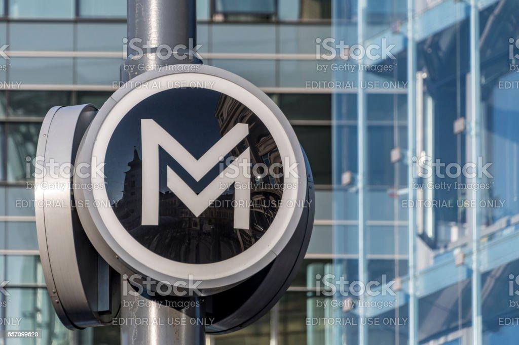 Metro u-Bahn Zeichen in Budapest – Foto