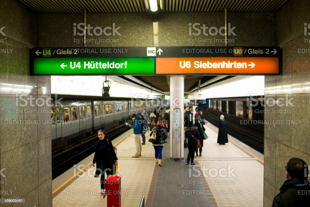 Metro - Vienna, Austria royalty-free stock photo