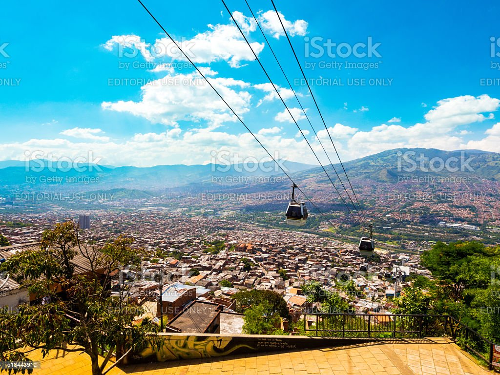 Metrocable in Medellin, Colombia stock photo