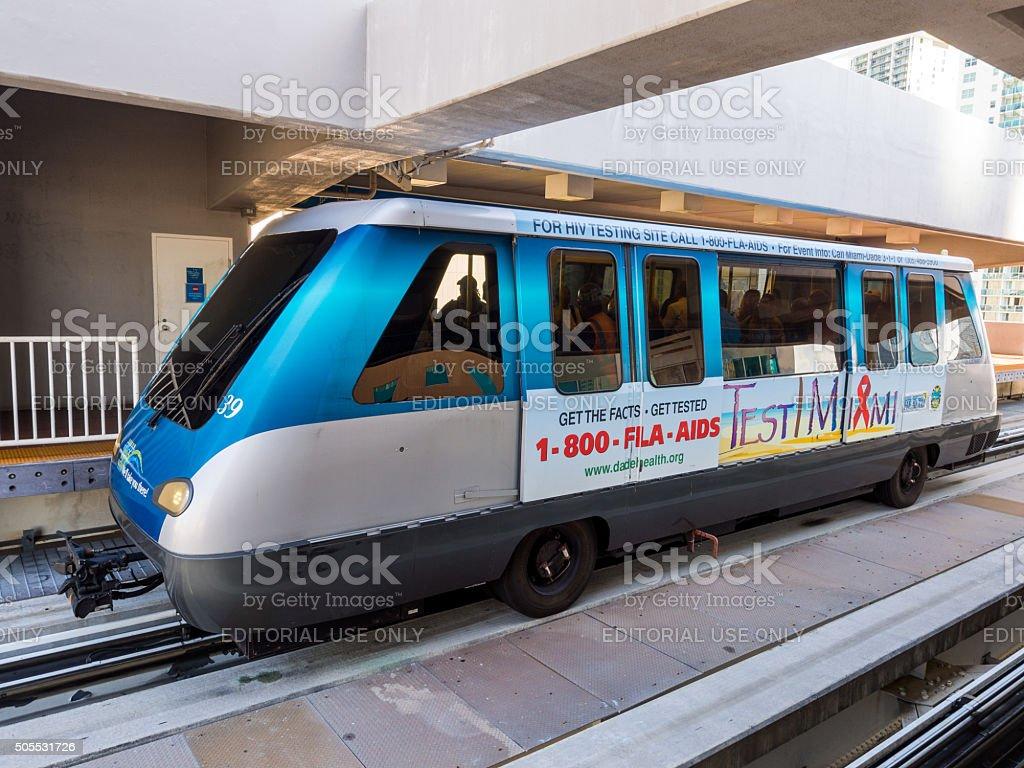 Metromover in Miami, Florida stock photo