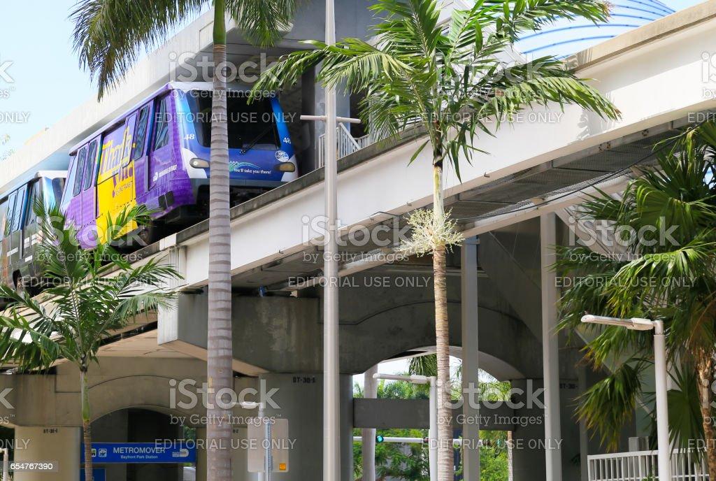 Metromover in Miami stock photo