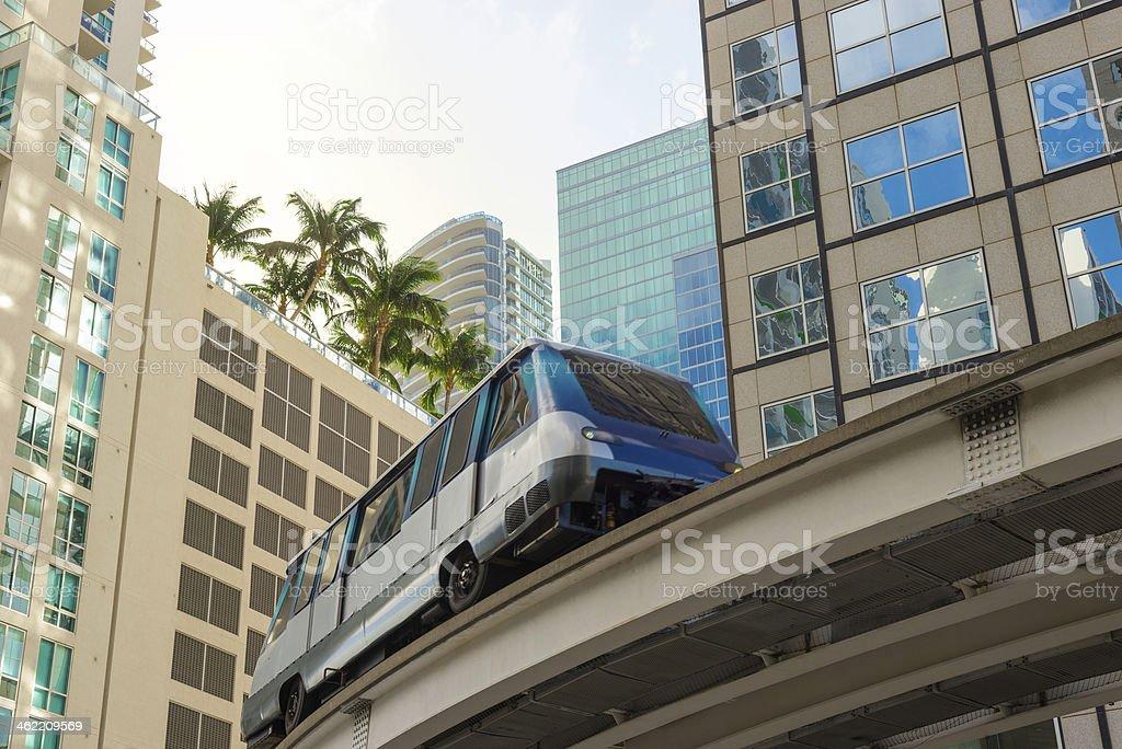 Metromover, Miami Downtown stock photo