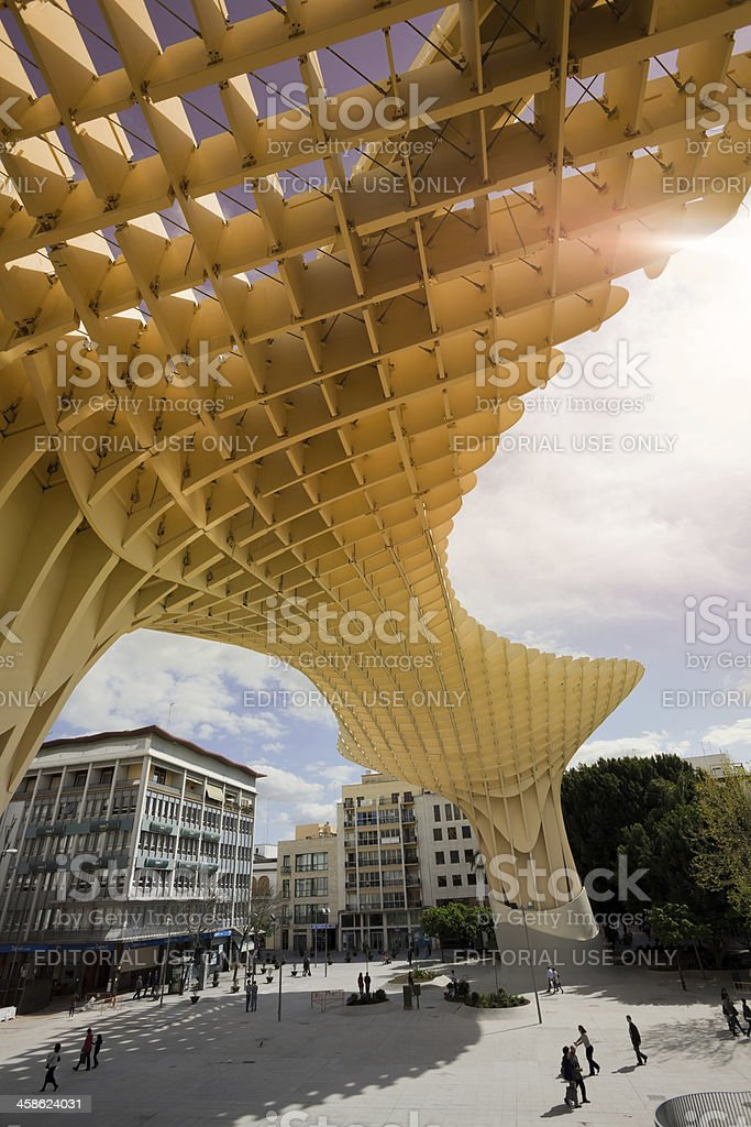 Metropol Parasol, Contemporary Architecture in Seville, Spain royalty-free stock photo