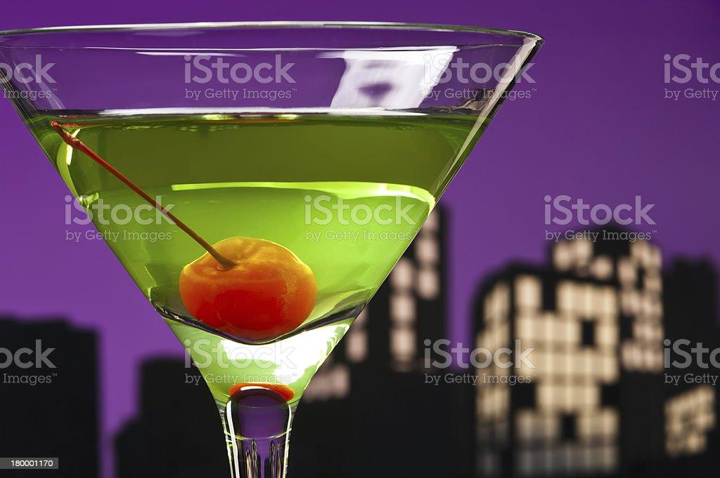 Metropolis Apple Martini royalty-free stock photo