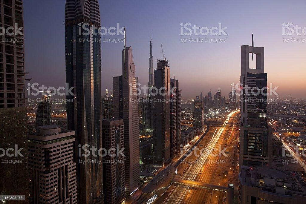 metropolis at sunset royalty-free stock photo