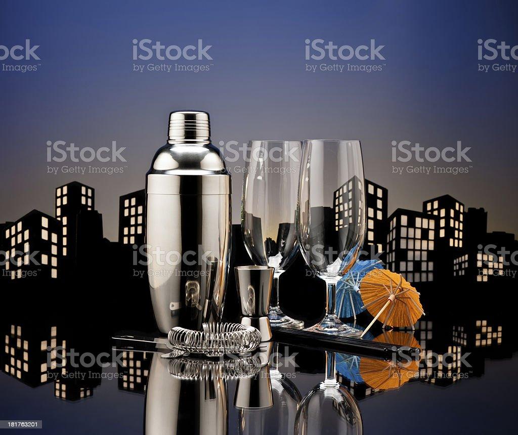 Metropolis Bartender tools royalty-free stock photo