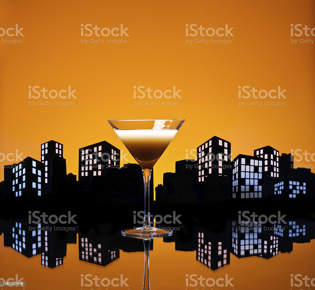 Metropolis Coffee Martini cocktail royalty-free stock photo