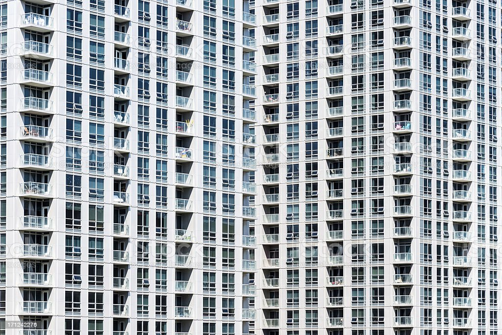 Metropolis Condos Apartment Building Texture royalty-free stock photo