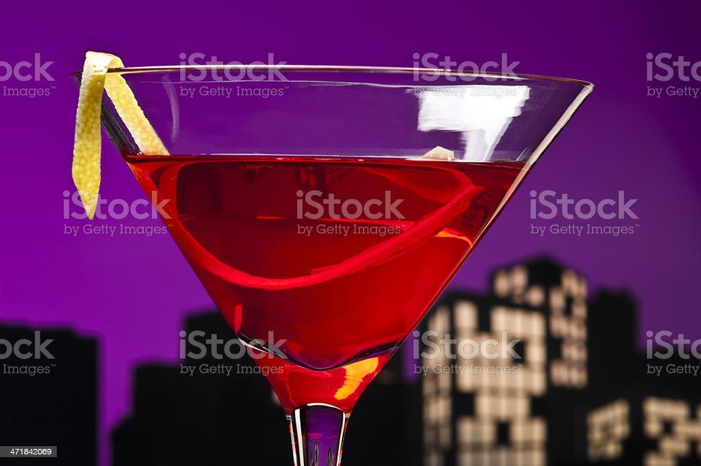 Metropolis Cosmopolitan Cocktail royalty-free stock photo