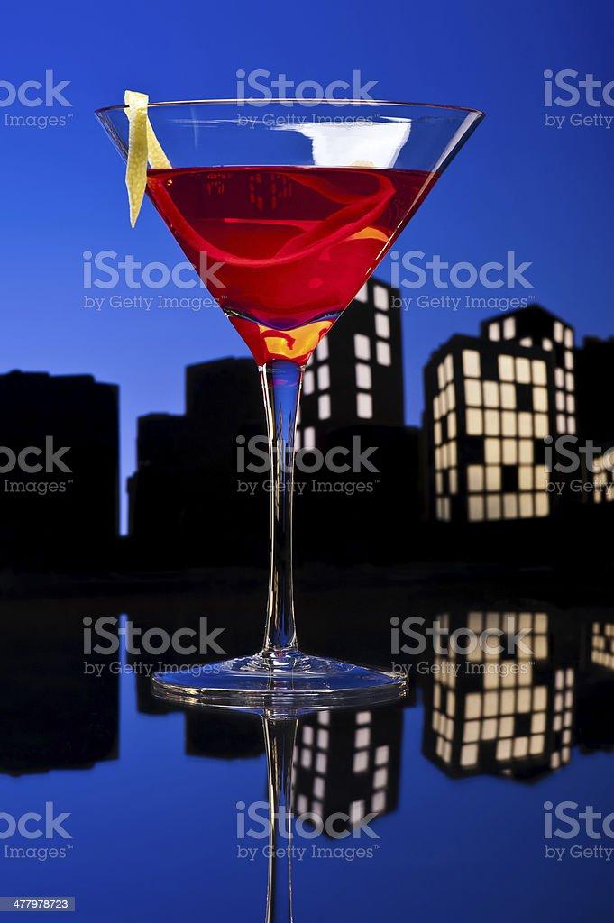 Metropoli cosmopolita Cocktail - foto stock