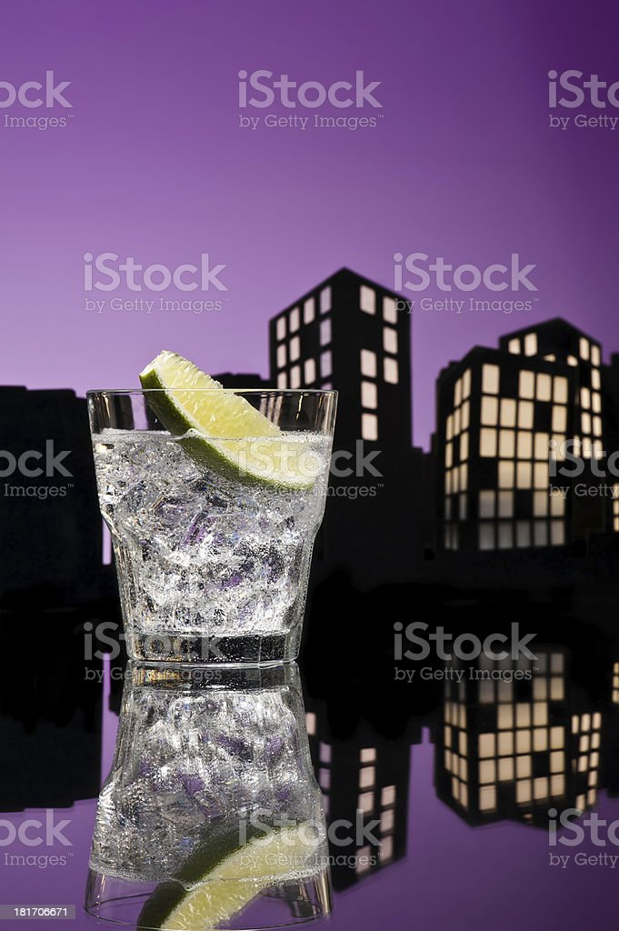 Metropolis Gin Tonic cocktail royalty-free stock photo