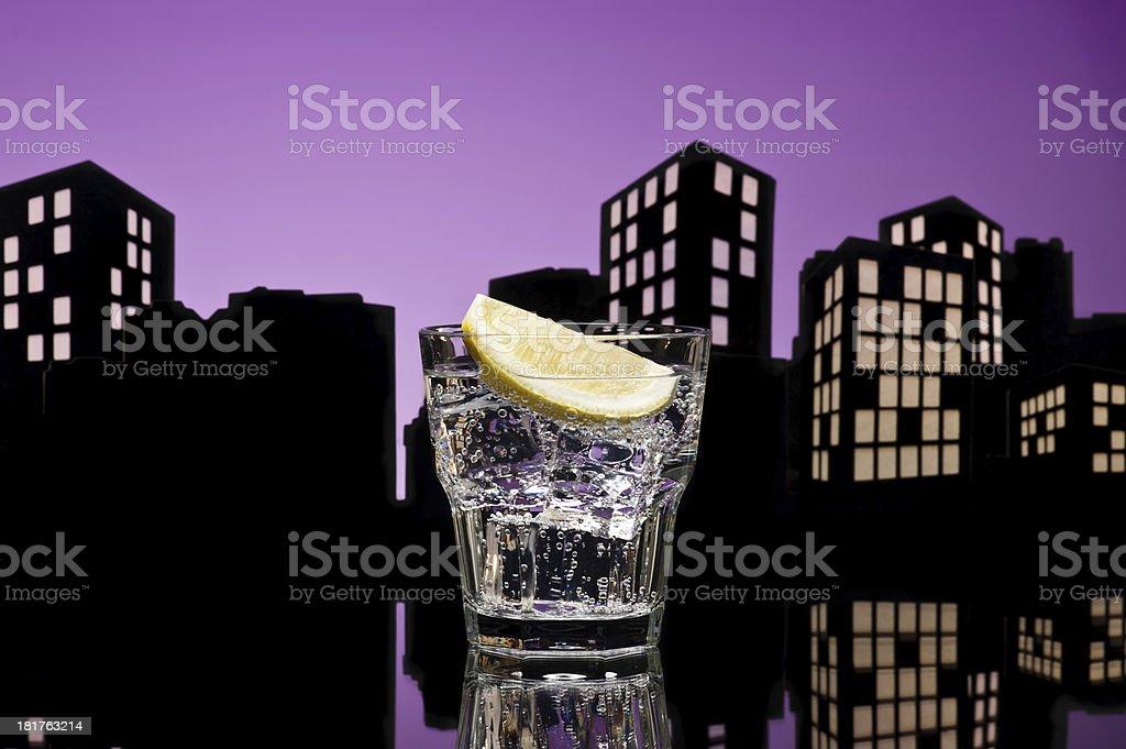 Metropolis Gin Tonic cocktail royalty-free stock photo