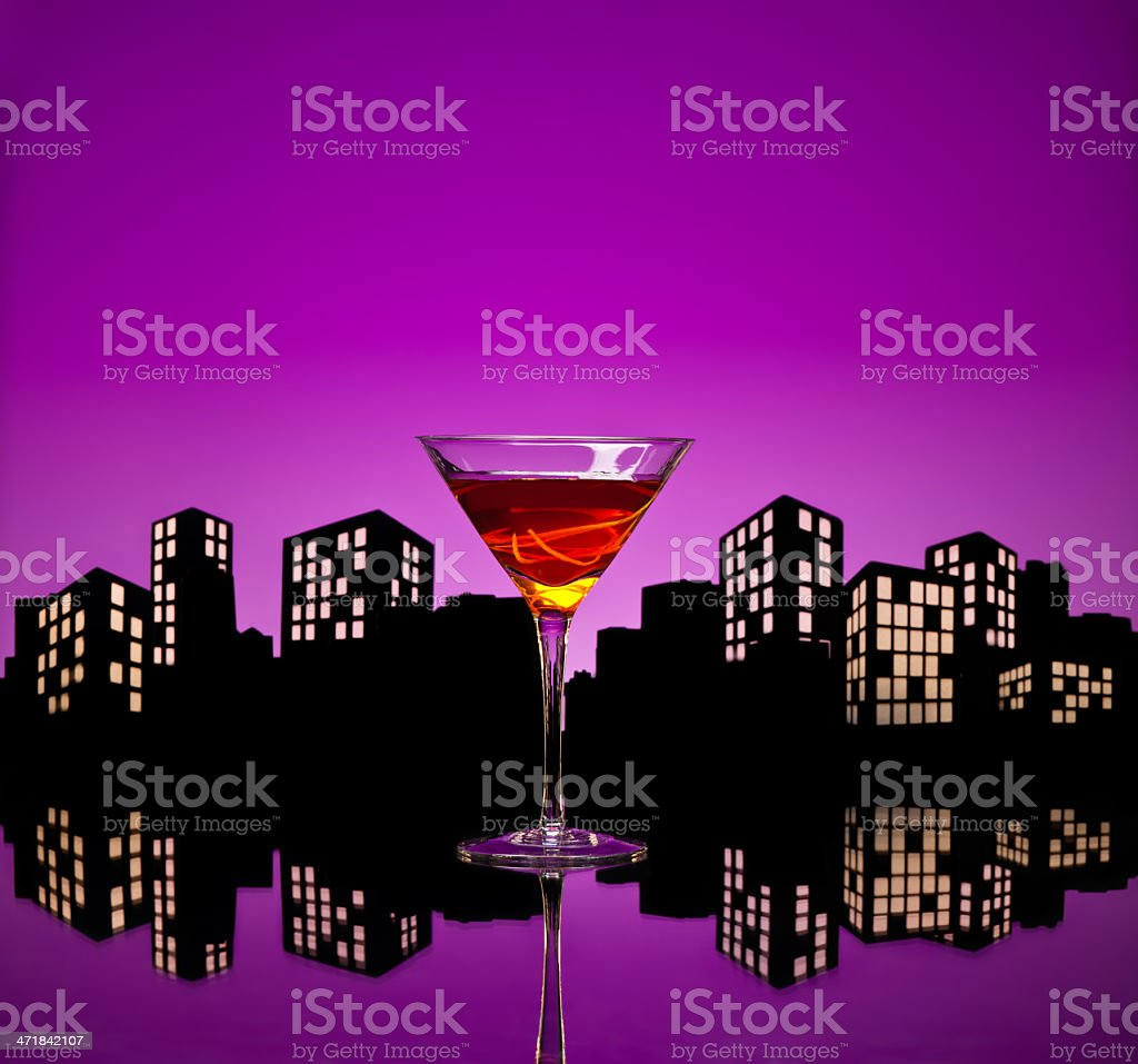 Metropolis Manhattan Cocktail stock photo