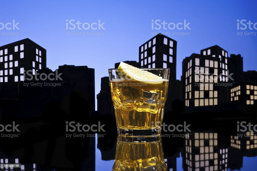 Metropolis Whisky sour cocktail royalty-free stock photo