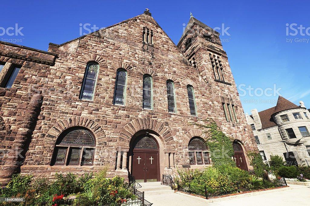Metropolitan Apostolic Community Church in Grand Boulevard, Chic royalty-free stock photo