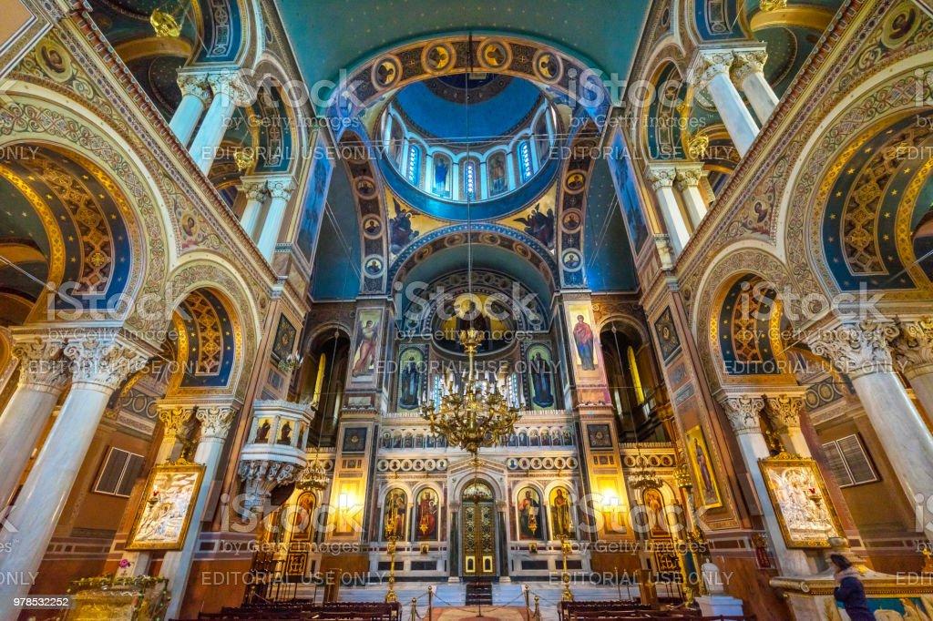 メトロポリタン大聖堂ドーム ギリシャ正教会大聖堂アテネ ギリシャ ...