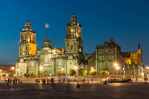 Metropolitan Cathedral In Mexico City, Mexico stock photo