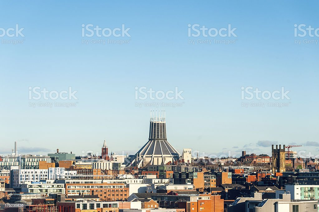 Metropolitan Cathedral Of Christ The King, Liverpool royalty-free stock photo