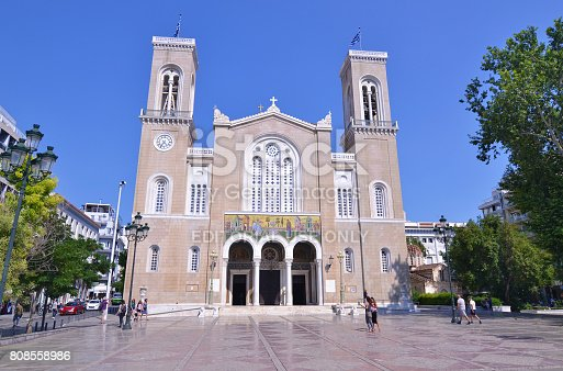 istock Metropolitan Cathedral of the Annunciation Athens Greece 808558986