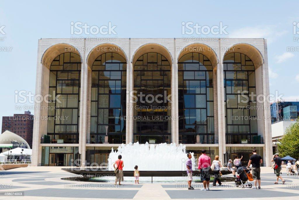 Metropolitan Opera House Lincoln Center New York City stock photo