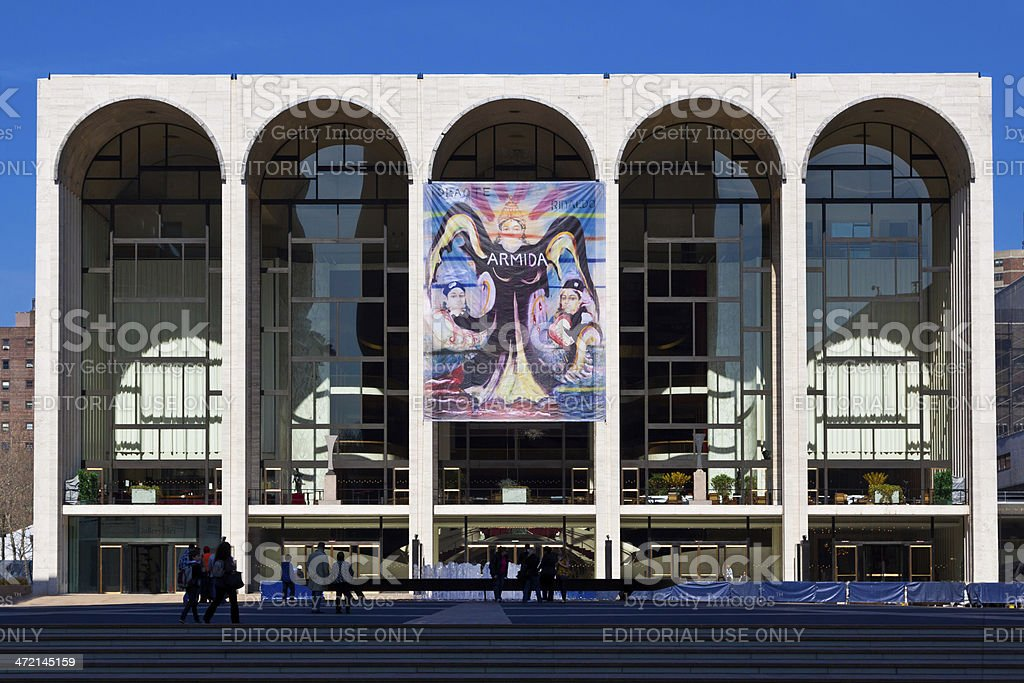 Metropolitan Opera House (Lincoln Center), New York City. stock photo
