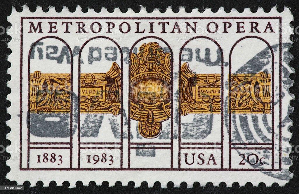 Metropolitan Opera stamp 1983 stock photo