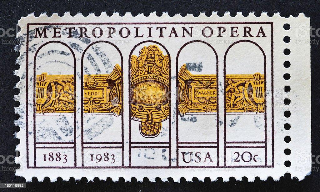 Metropolitan Opera Stamp stock photo