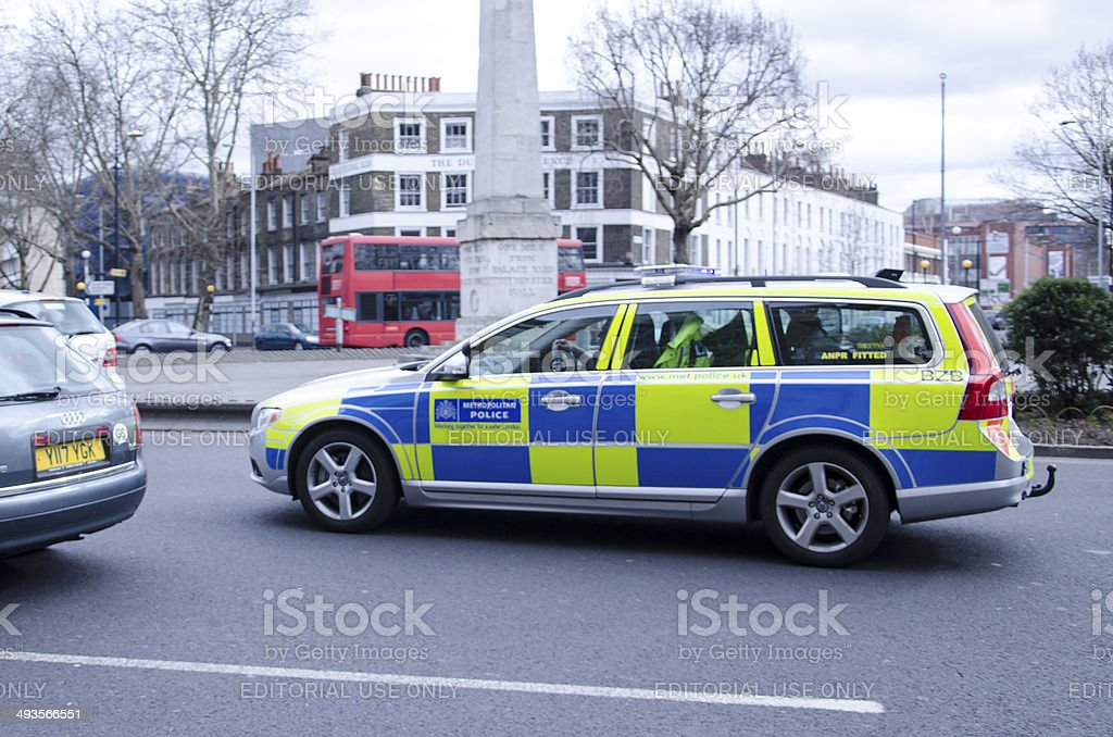 Metropolitan police car stock photo