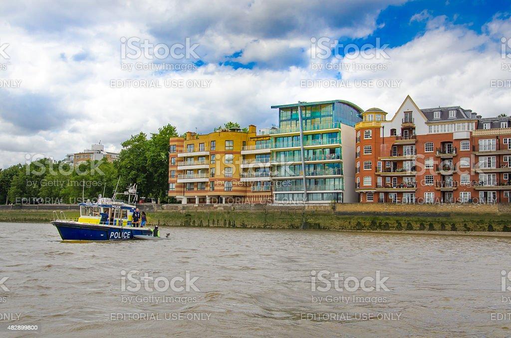 Metropolitan Police, Marine Policing Unit on river Thames. stock photo