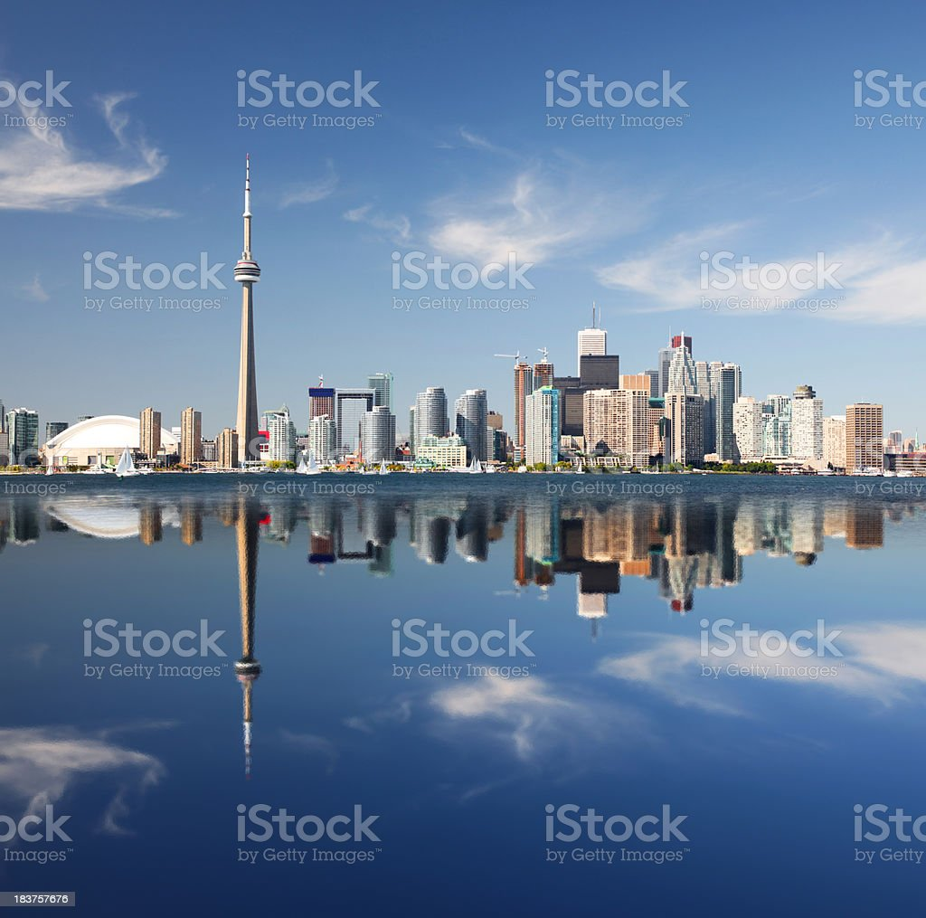Metropolitan Toronto City Reflection stock photo