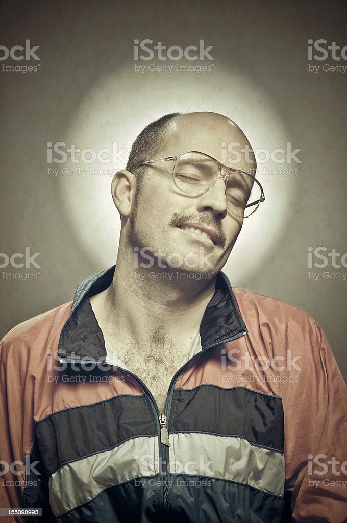 Metrosexual retro guy stock photo