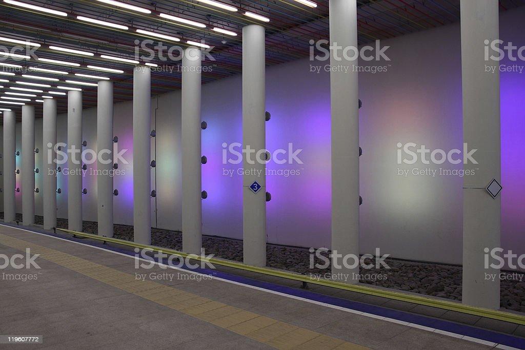Metrostation in Rotterdam stock photo