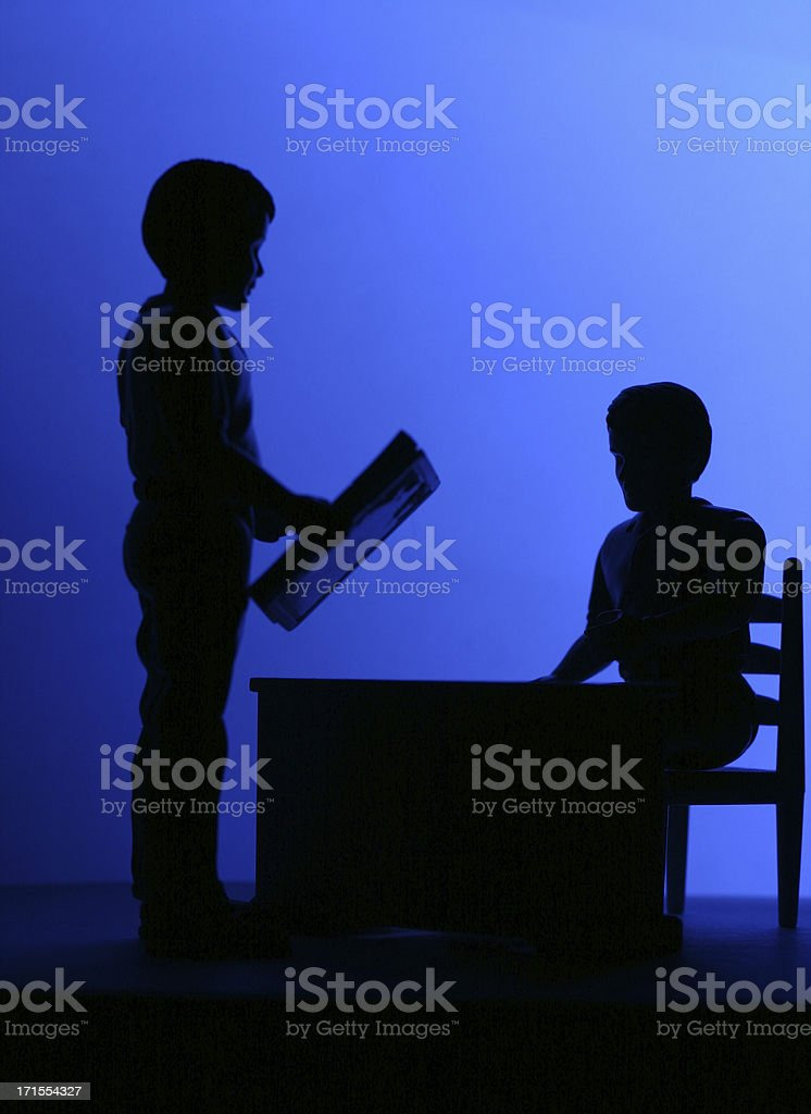 Metting with the Boss - Silhouette royalty-free stock photo