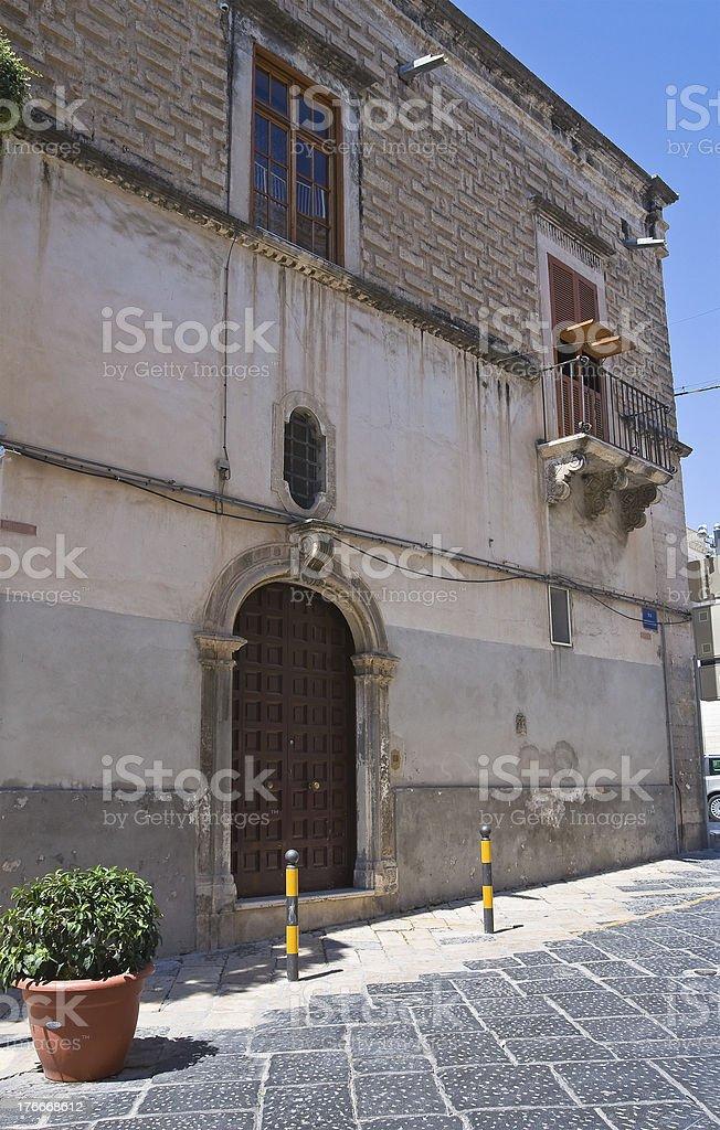Mettola Palace. Manfredonia. Puglia. Italy. royalty-free stock photo
