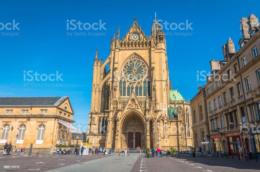 Metz Cathedral France stock photo