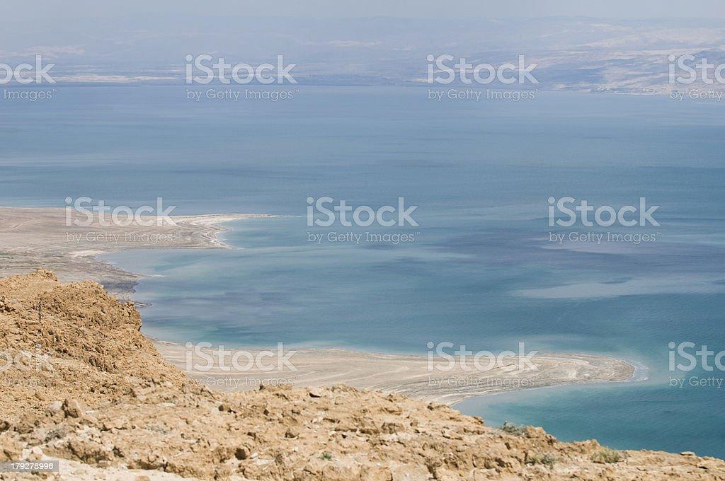 Metzoke Dragot above the dead sea, Israel stock photo