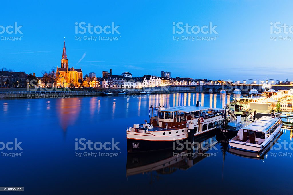 Meuse River in Maastricht stock photo