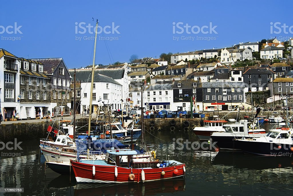 Mevagissey Fishing Village in Cornwall UK stock photo