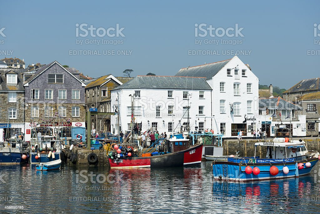 Mevagissey Fishing Village in Cornwall UK stock photo