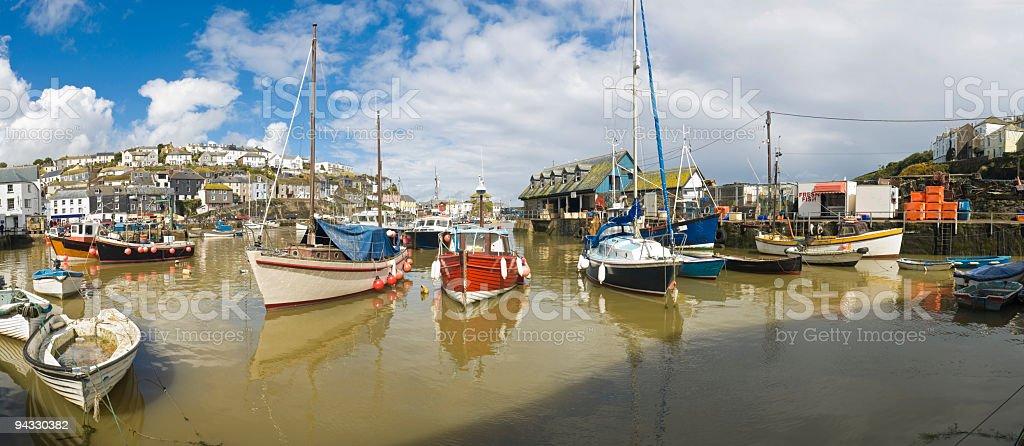 Mevagissey harbour, Cornwall, UK royalty-free stock photo