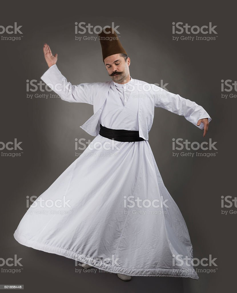 Mevlana Dervish Whirling stock photo